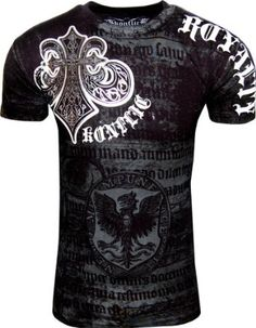 Amazon.com: Konflict NWT Men's Saint's Royalty Graphic Designer MMA Muscle T-shirt!: Clothing