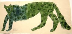A leopard... green with envy? クロヒョウ