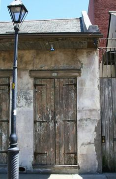 Multi Colored Door With Lamp Post French Quarter New Orleans La