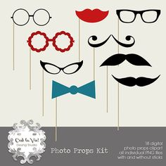 Momster | Blog | Printable Photo Booth Props for New Year's Eve