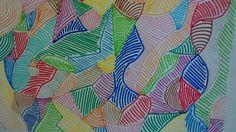 Lineas curvas y en infinidad de colores, los ojos se fijan si o si!!!