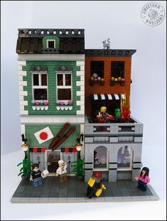 Created for Briqu'o Rhin - to be displayed in a collaborative creation with my friend Kloou to pair up with his cinema and bar. Arcade, Casa Lego, Lego Minifigure Display, Lego Blocks, Lego Modular, Lego Room, Retro Videos, Lego Storage, Cool Lego Creations