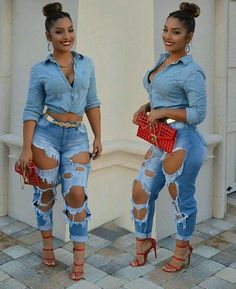 Women's Denim Skinny Ripped Pants High Waist Stretch Jeans Slim Pencil Trousers in Clothing, Shoes & Accessories, Women's Clothing, Jeans Date Outfits, Summer Outfits, Fashion Outfits, Womens Fashion, Fashion Ideas, Denim Outfits, Urban Outfits, Summer Clothes, Denim Fashion
