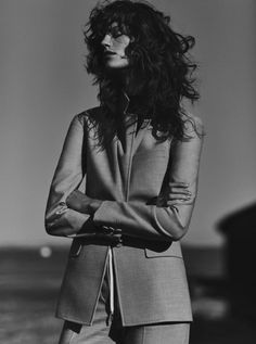 Antonina Petkovic sports tailored looks for Numero Tokyo October 2015 by Emma Tempest [editorial]