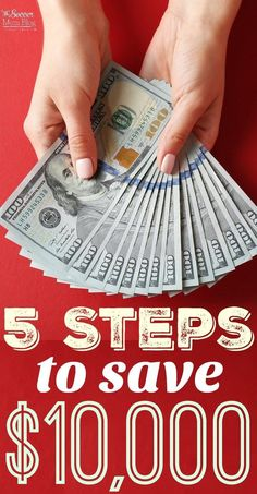 It's easier than you think to save $10,000 or large amounts with these 5 proven steps to save money. Plus 5 budget plans from top family finance bloggers! Best Money Saving Tips, Ways To Save Money, Saving Money, Money Tips, Living On A Budget, Family Budget, Frugal Living, Simple Living, Total Money Makeover