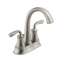 $12 Stainless. 25716LF-SS Lorain Two Handle Centerset Lavatory Faucet : Bath Products : Delta Faucet