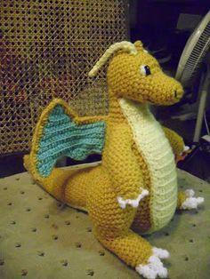 Crochet Dragonite Pokeman Character free pattern: Calavera's Cocina