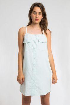 Koshka - Cheap Monday 'Chop' Denim Dress, $69.00 (http://www.shopkoshka.com/new-in/cheap-monday-chop-denim-dress/)