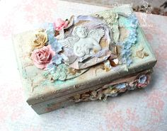 ILuvVintageScrap: Shabby Chic Mixed Media Keepsake Box