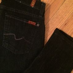 7 for all Mankind Roxanne Dark Wash Jeans Only worn a few times. Size 27. 7 for all Mankind Jeans Straight Leg