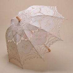 Umbrella Ivory Wedding Umbrella Bridal Umbrella Lace by ALICEPUB