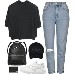 Uh huh honey by brigi-bodoki on Polyvore featuring Topshop, NIKE and Monki
