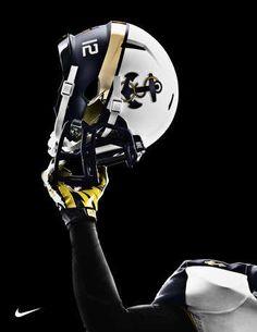 The Navy Team's helmet. #FootballNavy Team #Navy #football