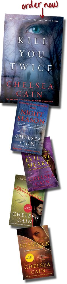 Chelsea Cain Heartsick series about a serial killer here in my hometown . . .