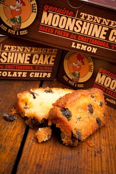"""Our very own Tennessee Moonshine Cake, baked from scratch from a recipe we created. Chock full of the finest ingredients, including 100 proof """"White Lightnin'"""" Ole Smoky Tennessee Moonshine, distilled in Gatlinburg."""