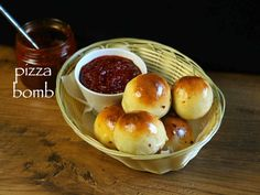 pizza bombs recipe, veg pizza bomb recipe, pizza pav recipe with step by step photo/video. unique way of preparing the traditional and popular pizza recipe.