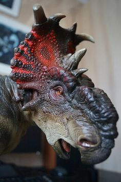 Hello! My new work is a statue of a dinosaur Pachyrhinosaurus. Scale 1:15 in resin.