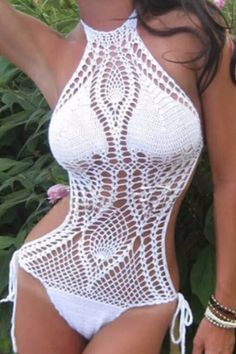 Cupshe So Heated Crochet Bikini Set