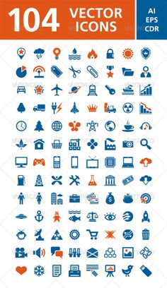 104 Vector Icons — Vector EPS #development #monitoring • Available here → https://graphicriver.net/item/104-vector-icons/3700747?ref=pxcr