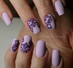 purple nails, Natural short square nails design for summer nails, acrylic square nails short, square Purple Manicure, Purple Nail Art, Purple Nail Designs, Manicure E Pedicure, Nail Art Designs, Nails Design, Ombre Nail, Nail Designs Spring, Manicure Ideas