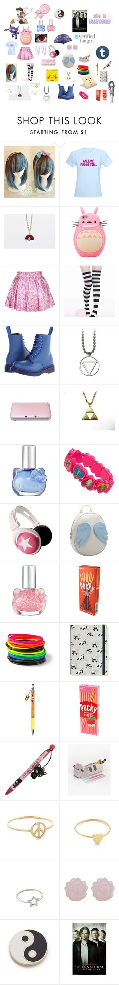 """""""fun#2"""" by savbrauda ❤ liked on Polyvore featuring Dr. Martens, Nintendo, Hello Kitty, BOBBY, Chicnova Fashion, claire's, sOUP, Jennifer Meyer Jewelry and Georgia Perry"""