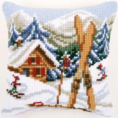 Snow Fun - Cross-stitch cushion - Vervaco