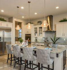 Island as bar style table, work & entertain Luxury Kitchen Design, Luxury Kitchens, Home Kitchens, Kitchen Designs, Home Decor Kitchen, Kitchen Living, Living Room, Home Interior, Kitchen Interior