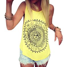 Tongshi-Mujeres-Sun-Impreso-Blusa-sin-mangas-del-chaleco-Camiseta-sin-mangas-de-la-blusa-ocasional