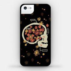 Terminal Daydream Flower Skull #skull #floral #phonecase #iPhone #illustration