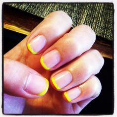Yellow tip manicure :)