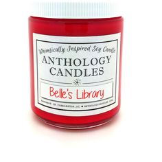 Belle's Library Candle Anthology Candles Disney Candles Scented Soy... ($18) ❤ liked on Polyvore featuring home, home decor, candles & candleholders, candles, candles & holders, container candles, home & living, home décor, silver and smoke scented candle