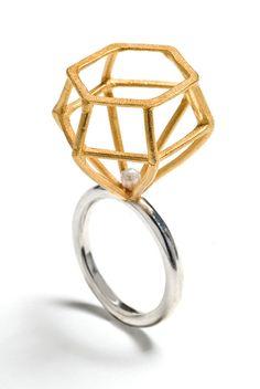 "architectural ""diamond"" ring"