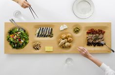 """An ingenious retake on the traditional Japanese """"bento box,"""" the One for all by Yuri Naruse and Jun Inokuma."""