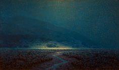 Granville Redmond  Moonlight Marsh Scene