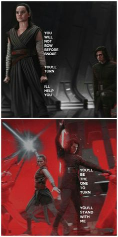 In a way, both of their visions came true during the throne room battle: Kylo did turn against Snoke, and Rey did stand with him, the both of them just interpreted the bigger picture or the greater cause rather than the smaller battles won here and now.