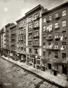 Mott Street in New York's Old Little Italy by George Grantham Bain, 1910.