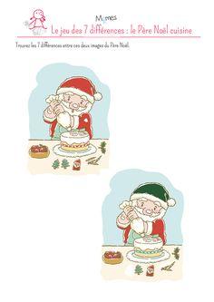 Jeu des 7 différences : le Père Noël Hidden Pictures, Peanuts Comics, Alice, Blog, Up, French, Ideas, Glass Display Case, Noel