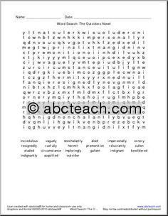the outsiders worksheets the outsiders character chart amber turner pinterest worksheets. Black Bedroom Furniture Sets. Home Design Ideas