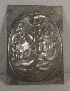 ANTIQUE CHOCOLATE EASTER CANDY MOLD