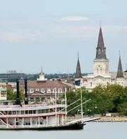 steamboat natchez and st. louis cathedral