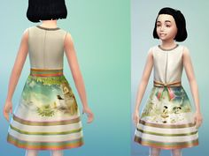 Children Dress Art: fully tested in game Found in TSR Category 'sims 4 Female Child Everyday' Sims 4 Children, Children Dress, Sims 4 Tsr, Female, Outfits, Clothes, Dresses, Art, Polka Dots