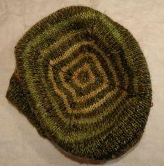 Turn a Square hat knit by Deborah Cooke