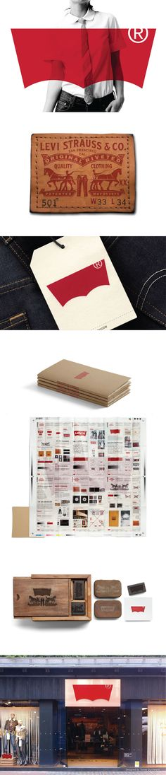 Levi's visual identity. Designed by Turner Duckworth.