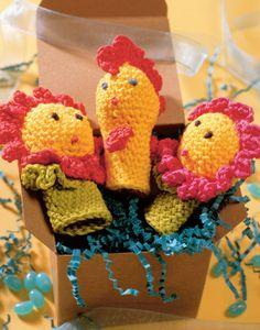 Crocheted finger puppet toys