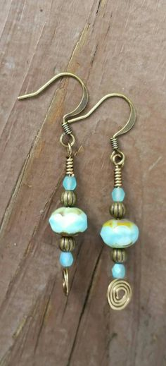 Check out this item in my Etsy shop https://www.etsy.com/listing/245193473/sky-blue-earrings-wire-wrapped-earrings