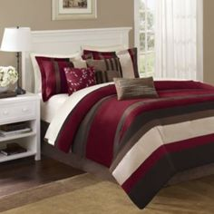 Madison+Park+Boulder+Stripe+7-pc.+Comforter+Set