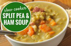 Slow Cooker Split Pea and Ham Soup Recipe via @SparkPeople