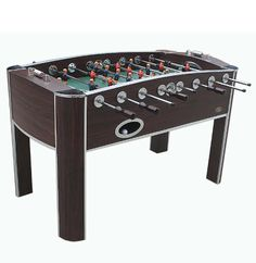 The Chatham foosball table offers plenty of entertainment and competitive play. The table includes four foosballs – two white and two orange – that are weighted to give you a solid feel as you square off against the competition.