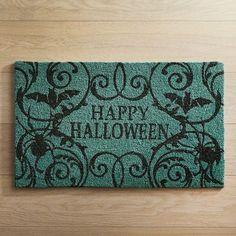 Happy Halloween Teal Doormat http://shopstyle.it/l/juux #affilink