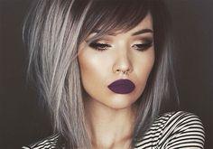 O cabelo ombré cinza é a nova obsessão de beleza